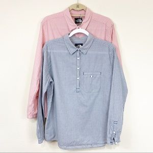 The North Face Cotton a button Down Shirts Sz M